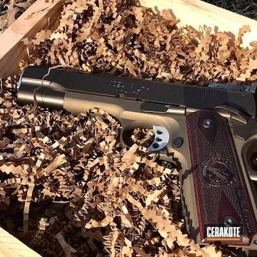 Cerakoted Springfield 1911 Handgun With Cerakote H-148 And H-294