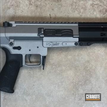 Cerakoted Cmmg Inc Ar Rifle Cerakoted In H-219 Gun Metal Grey
