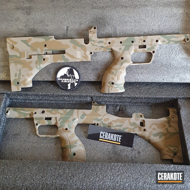 Cerakoted: SHOT,Rifle Stock,MAGPUL® FLAT DARK EARTH H-267,MultiCam,Sniper Green H-229,Gun Coatings,A.I. Dark Earth H-250