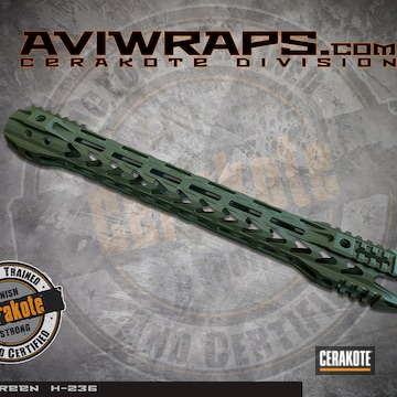 Cerakoted Handguard Cerakoted In H-236 O.d. Green