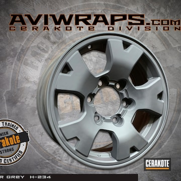 Cerakoted Toyota Tacoma Wheels Cerakoted With H-234 Sniper Grey