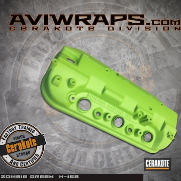 Cerakoted Cerakote Zombie Green On This Honda Valve Cover