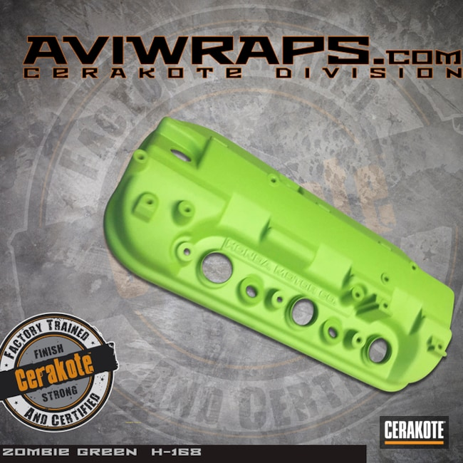 Cerakoted: Cerakote,Valve Cover,Not Just Guns,Zombie Green H-168,Automotive,Green,Honda