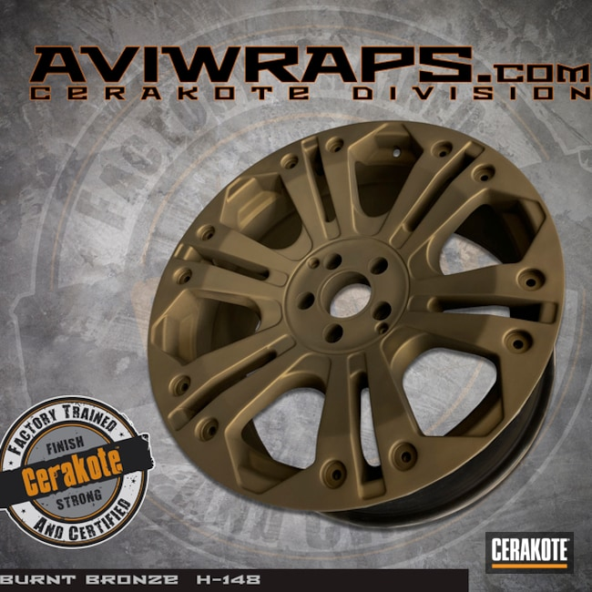 "Thumbnail image for project ""XD Wheels with a Cerakote H-148 Burnt Bronze Finish"""