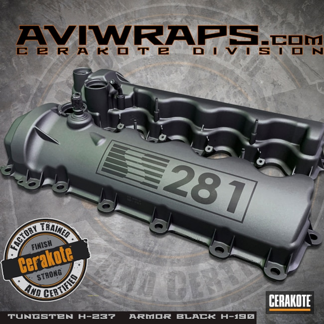 "Thumbnail image for project ""Mustang Valve Covers with Custom Cerakote Finish"""