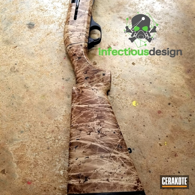 "Thumbnail image for project ""Benelli Hunting Shotgun with a Cerakote Woodland Camo Finish"""