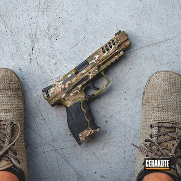 Cerakoted Heckler & Koch Handgun With A Cerakote Multicam Finish