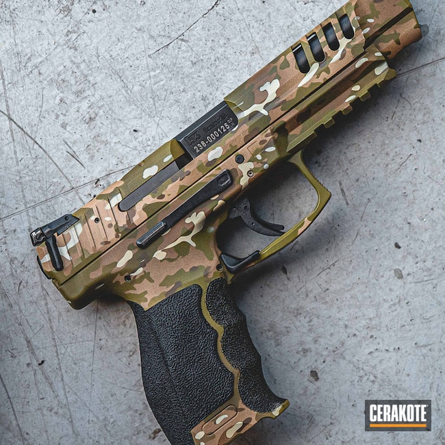 Heckler & Koch Handgun with a Cerakote MultiCam Finish