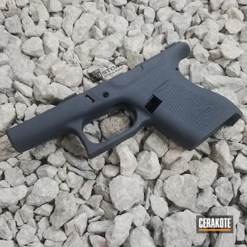 Cerakoted Glock 43 Frame Cerakoted With H-295 Cobalt Kinetics Slate