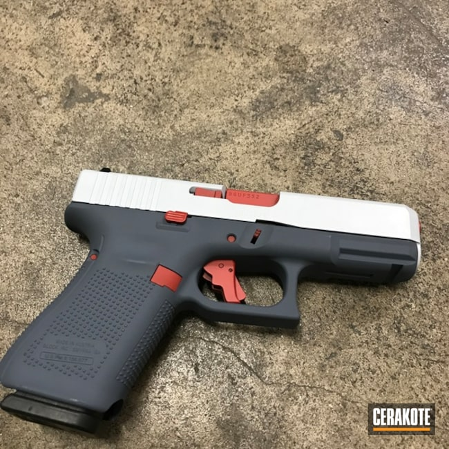 Custom Glock with Cerakote H-216, H-213, H-130 and H-297
