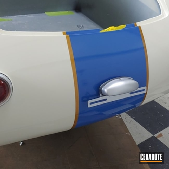 Cerakoted Exhaust Pipes with C-7700 Glacier Silver