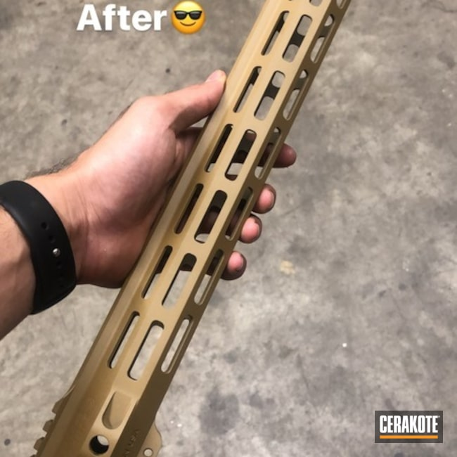 Cerakoted Handguard Cerakoted With H-187
