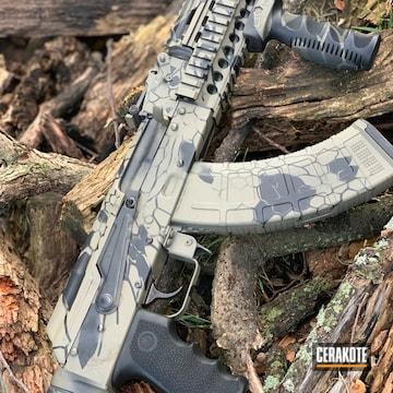 Cerakoted Ak-47 Rifle With A Cerakote Kryptek Finish