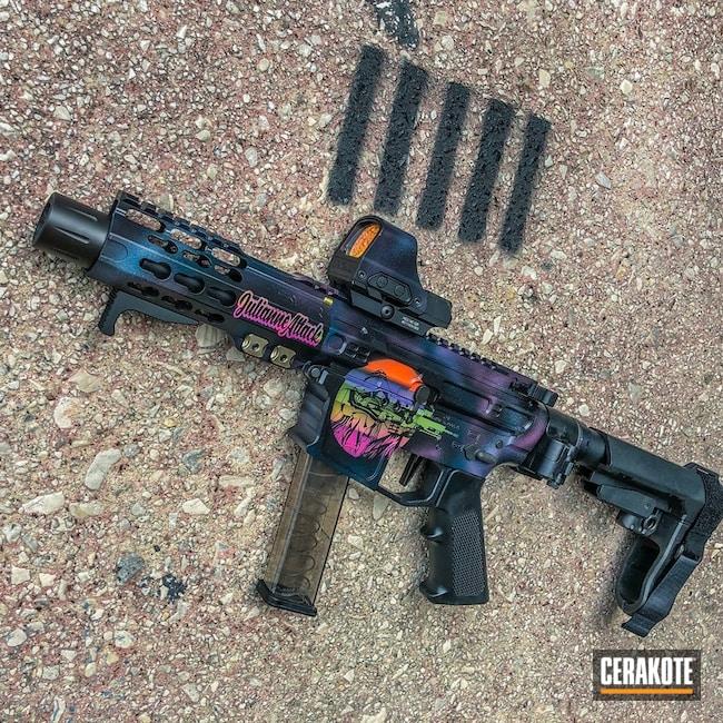 Cerakoted: S.H.O.T,Corvette Yellow H-144,Zombie Green H-168,Pistol,Trippy,HIGH GLOSS ARMOR CLEAR H-300,9mm AR pistol,SB Tactical,9mm,AR Pistol,SBA3,Cosmic,Graphite Black H-146,Bright Purple H-217,Stormtrooper White H-297,Holosun,Pistol Caliber Carbine,Gun Coatings,Hunter Orange H-128,Galaxy,PCC