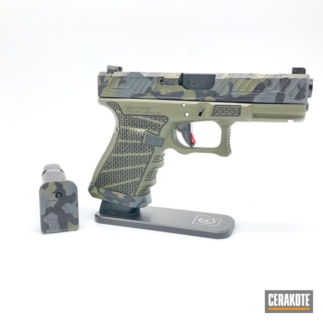 "Thumbnail image for project ""Zev Glock 19 with a Cerakote MultiCam Finish"""