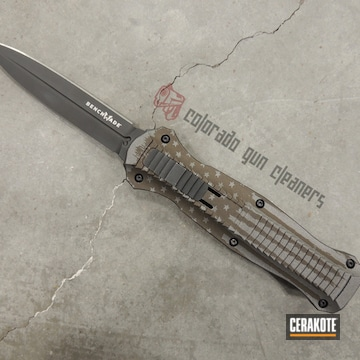 Cerakoted Benchmade Otf Knife And American Flag Cerakote Finish