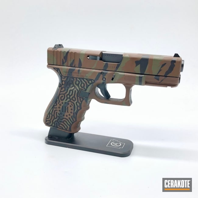 "Thumbnail image for project ""Glock 19 Handgun and Tiger Stripe Finish"""