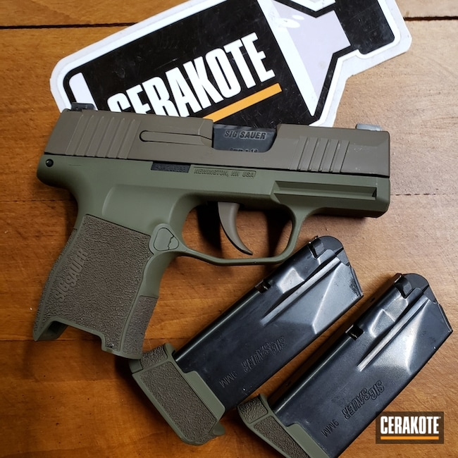 "Thumbnail image for project ""Cerakote Two Toned Sig Sauer P365"""