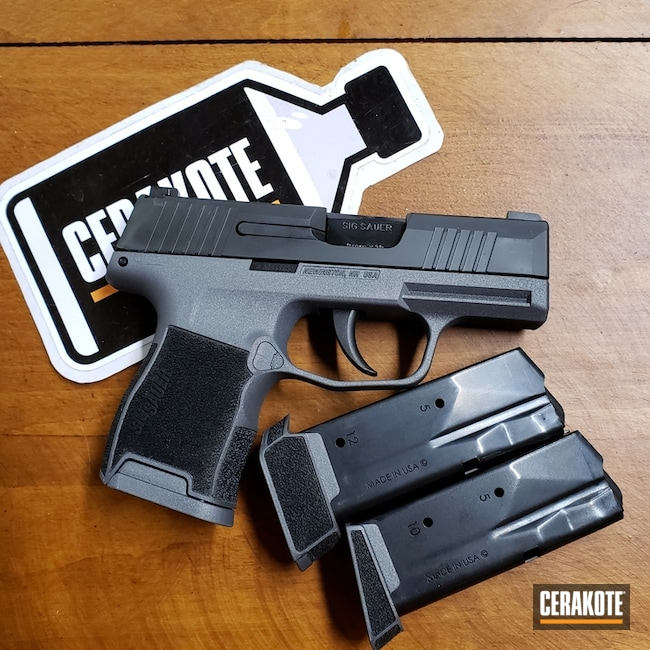 Sig Sauer P365 Handgun in Cerakote H-146 and H-227