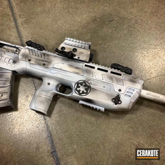 Cerakoted: S.H.O.T,Stormtrooper,Battleworn,Graphite Black H-146,Stormtrooper White H-297,Tactical Rifle,Gun Coatings,Stencil,Star Wars