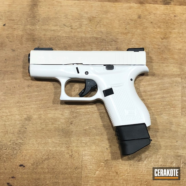Two Toned Glock 42 Handgun with H-301 and H-297
