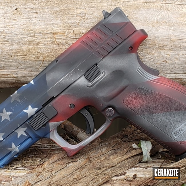"Thumbnail image for project ""Springfield XD-40 and Cerakote American Flag Finish"""