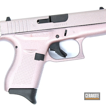 Cerakoted Glock Handgun In A Gun Candy Rose Gold And Cerakote Matte Clear Finish
