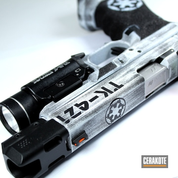 Cerakoted Star Wars Empire Themed Glock Handgun Finish