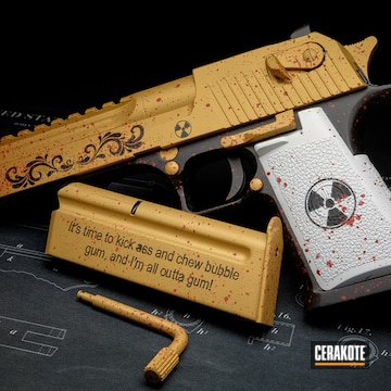 Cerakoted Duke Nukem Themed Desert Eagle Handgun