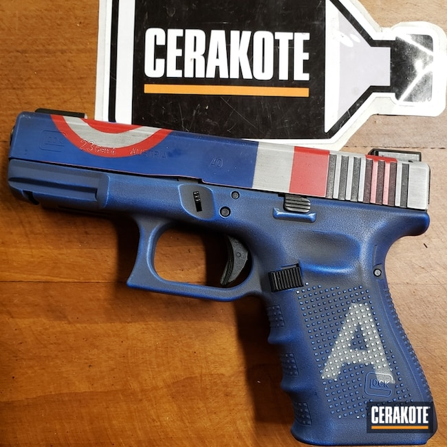"Thumbnail image for project ""Glock 23 with a Captain America Cerakote Finish"""