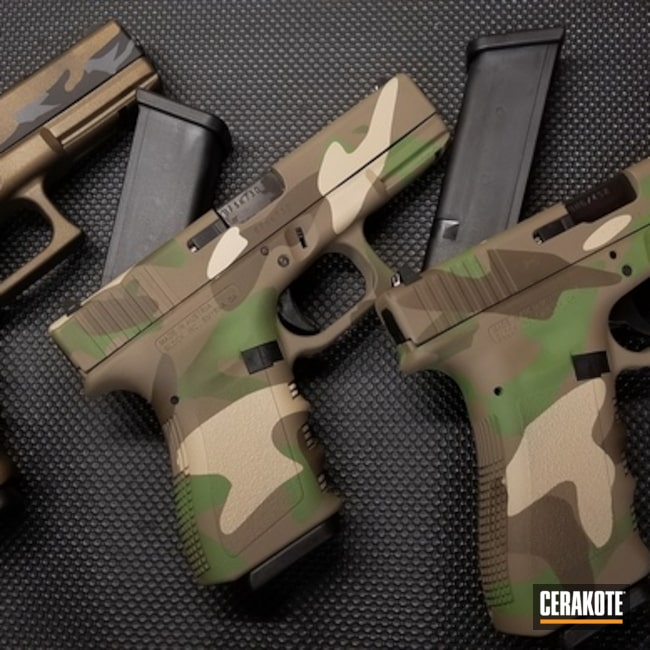 Cerakoted: S.H.O.T,Coyote Tan H-235,MultiCam,Tactical,Camo,Glock,Forest Green H-248,Gun Coatings,Flat Dark Earth H-265,Pistols
