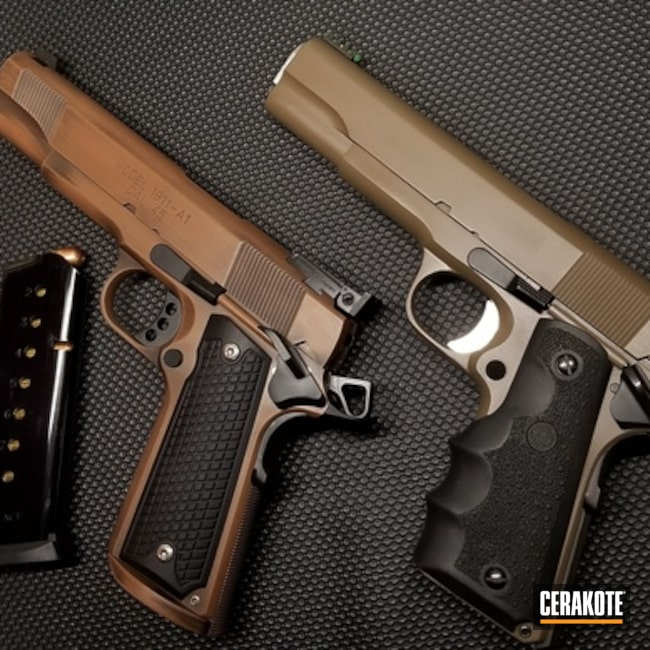 Tactical 1911 Handguns Cerakoted with H-265, H-190 and H-149