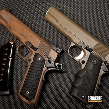 Cerakoted Tactical 1911 Handguns Cerakoted With H-265, H-190 And H-149