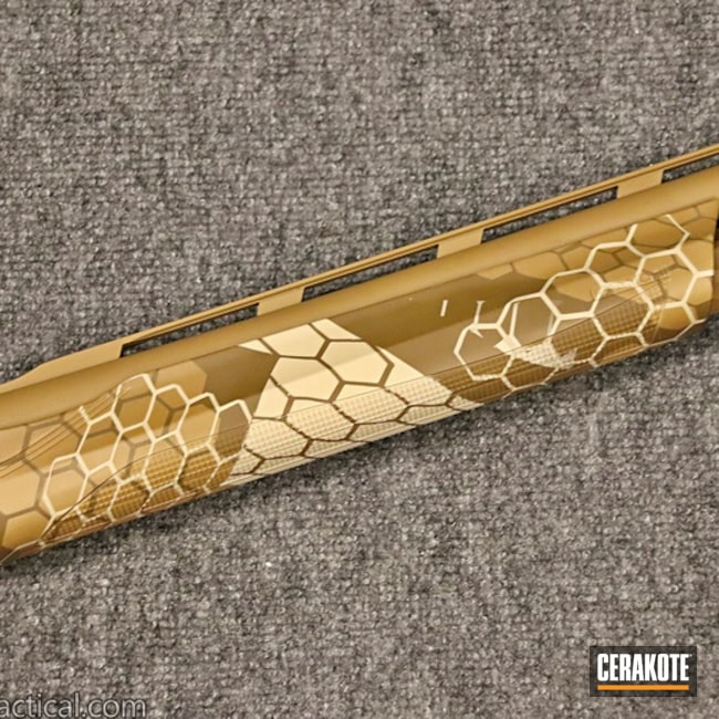 "Thumbnail image for project ""12 Gauge Shotgun with a Cerakote Hextek Pattern"""