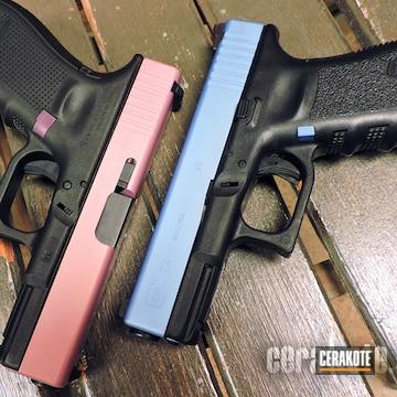 Cerakoted Cerakoted Glock Handguns In H-217, H-311 And H-326