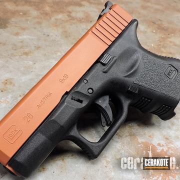 Cerakoted Cerakote Copper Suede Featured On This Glock 26 Slide