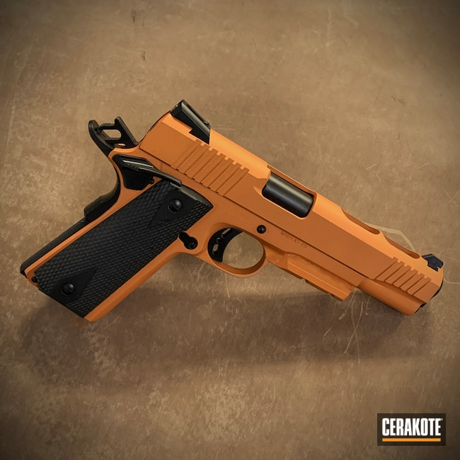 Cerakoted Tequila Sunrise Custom Pistol