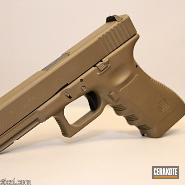 Cerakoted Glock 17 Cerakoted With Hir-265 Gen Ii Flat Dark Earth