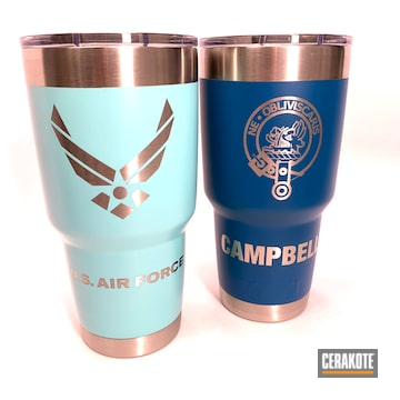 Cerakoted Cerakoted Tumbler Cups In Sky Blue And Robin's Egg Blue