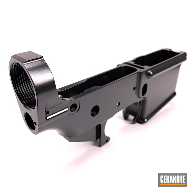 Cerakoted: S.H.O.T,AR Lower Receiver,Lower,BLACKOUT E-100,Brownells,AR-15 Lower,Gun Coatings