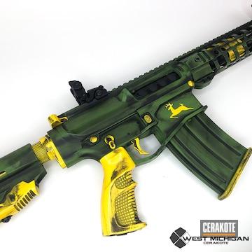 Cerakoted John Deere Themed Cerakote Rifle Finish