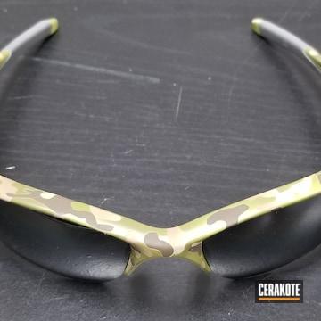 Cerakoted Oakley Sunglasses With A Cerakote Multicam Finish