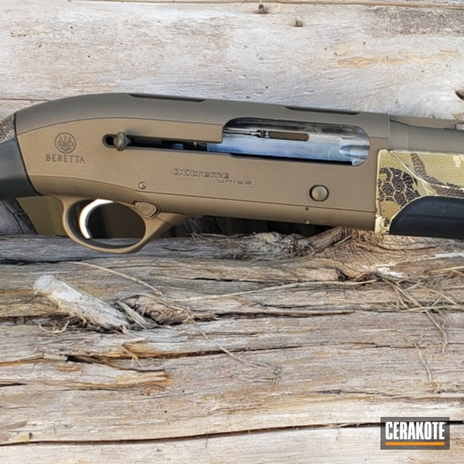 "Thumbnail image for project ""Beretta Shotgun Cerakoted in H-148 Burnt Bronze"""