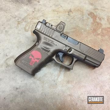 Cerakoted Custom Glock Handgun In Cerakote H-126 And H-294