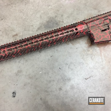Cerakoted Upper / Lower / Handguard With A Cerakote Cracked Earth Finish