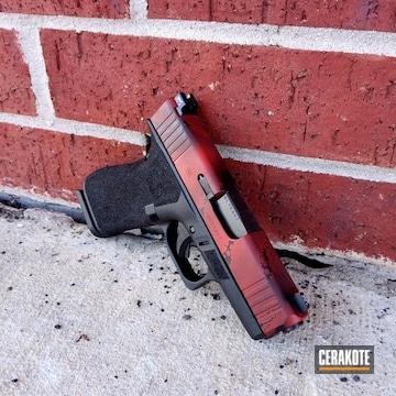 Cerakoted Glock 43 With A Marvel Carnage Themed Cerakote Finish