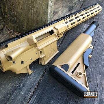 Cerakoted Tactical Rifle With A Cerakote H-187 Finish
