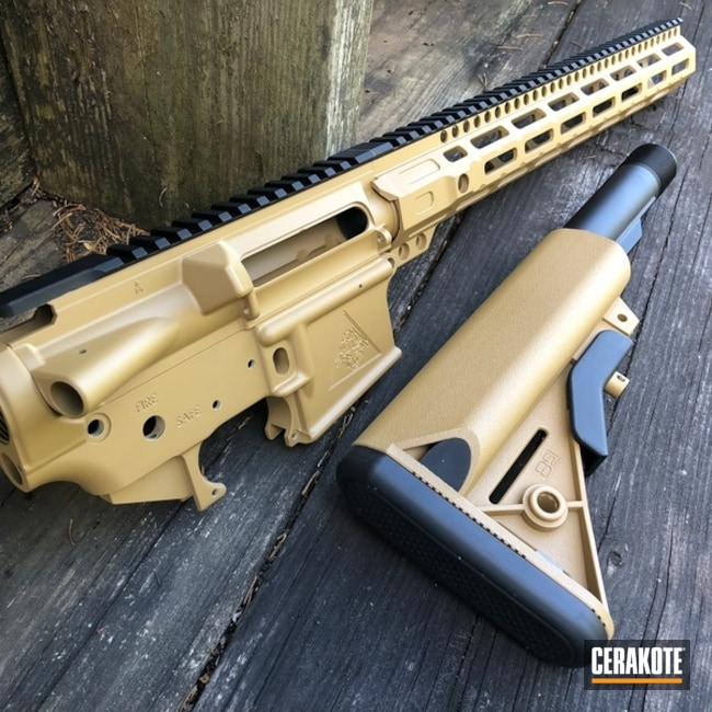 Cerakoted Tactical Rifle With A Cerakote H-187 Finish