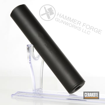 Cerakoted Yhm Suppressor Cerakoted In Graphite Black