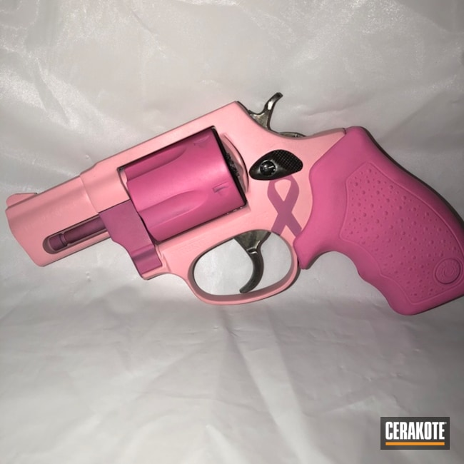 Two Toned Pink Taurus Revolver